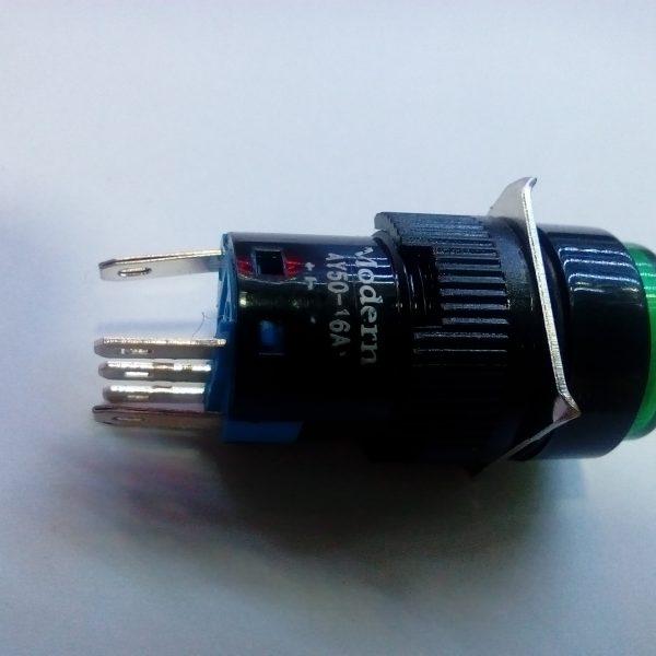 کلید چراغدار تک کنتاکت ۵پین ۱۶آمپر(۱)
