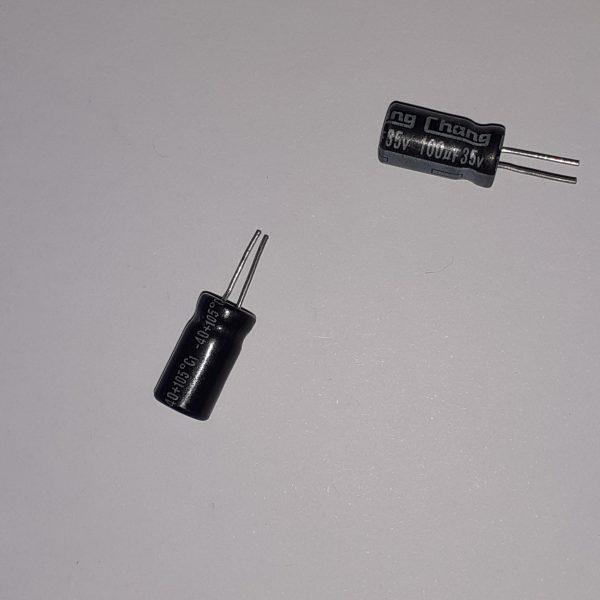 خازن ۳۵ ولت ۱۰۰ میکروفاراد الکترولیتی